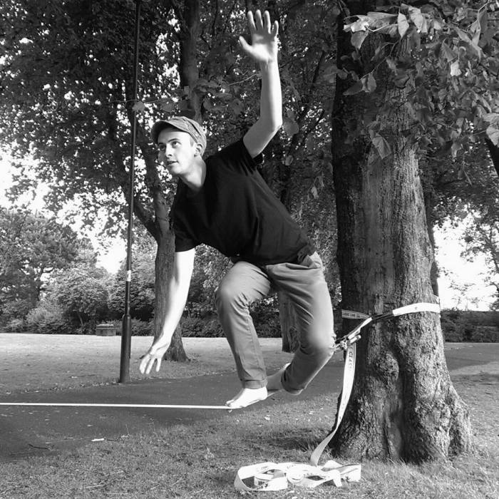 Stephen Dryden Slacklining in Gosforth Park
